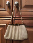 WHITING AND DAVIS - WHITE MESH - EVENING PURSE 1940's/50's