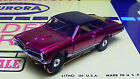 Model Motoring 67 GTO Candy Red w/ Vinyl top HO slot car Body only fits Aurora