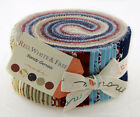 Red White & Free Jelly Roll Fabric - Moda - Sandy Gervais