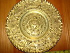 VINTAGE  BRASS HAND HAMMERED  WALL HANGING PLATE