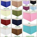 SPLIT CORNER BOX PLEATED BED SKIRT SOLID 100% COTTON 1000TC 25 COLORS ALL SIZES