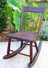 Vintage Hand Made Children's Rocking Chair Solid Wood Great Condition