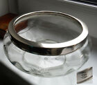 EARLY 1900s SILVER PLATE MOUNTED CUT GLASS FRUIT/SALAD BOWL