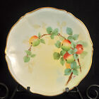 LIMOGES T&V Plate PICKARD Hand Painted APPLES Artist A.C. 1905-1907 RED GREEN