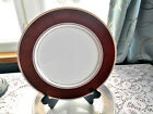 Fitz & Floyd Rondelet Chocolate Brown 7 Luncheon Plates Microwavable - 7-1/2