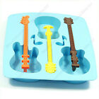 Silicone Guitar Shaped Cube Trays Ice Candy Mold Maker