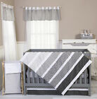 Baby Girl Boy Crib Bedding Set Ombre Gray Trend Lab NEW