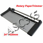 New 24In 620mm Manual Rotary Photo Vinyl Portable Paper Cutter +1 Blade