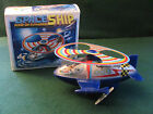 VINTAGE WIND-UP POWERED TOY SPACE SHIP W ORIGINAL BOX