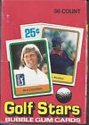 1981 DONRUSS GOLF STARS WAX BOX 36 PACKS NICKLAUS ROOKIE