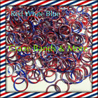 Red White Blue Stripe July 4th Swirly Camouflage Tie Dye Rainbow Rubber Bands