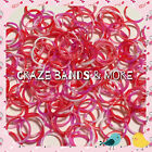 Swirly Camouflage Red White Pink Tie Dye Color Rubber Band for any Rainbow Loom