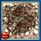 NEW Style Swirly Camouflage Black Yellow Red Brown Tie Dye Rainbow Rubber Bands