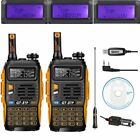 2* Baofeng GT-3TP Mark III Two-Way Radio + Cable 136-174/400-520MHz Tri-Power HP