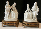 PAIR OF VINTAGE PORCELAIN VICTORIAN MEN AND WOMEN FIGURINES/WERE ONCE LAMP BASES