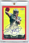 2013 Topps Chrome Geno Smith Auto #3 5 Red Refractor Rookie Card
