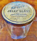 Vintage Kerr Jelly Glass Jar with Gold Metal Lid