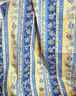 FRENCH COUNTRY BLUE & YELLOW COTTON FABRIC TREASURES OF PROVENCE by HOFFMAN bty