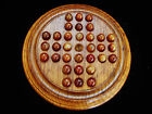 Vintage Oak General Grant Board with 32 Agate Marbles