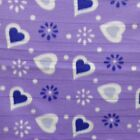 Hearts On Lilac Polar Fleece Fabric SOLD BY THE YARD