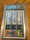 2010 Topps Magic Triple Auto Brees Manning Staubach 1 1 9 25