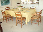 Maple dining set with caned chairs