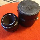 SMC Pentax-M Macro 50mm 1:4 PK Mount With Case And Caps!