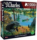 NEW Karmin International J. Charles Trouble at The Campfire Puzzle (1000-Piece)