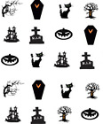 Halloween Silhouettes Waterslide Water Transfer Nail Decals Nail art