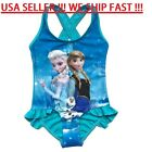 USA Disney Princess Elsa Anna Olaf Frozen Swimwear Girls  3/4 4/5 5/6 7/8 9/10