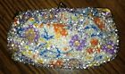 Vintage Ladies Beaded Floral Design Change Purse, Very Nice Used Condition.