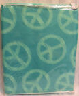 Peace Sign Twin Size Bedskirt Turquoise Color JCP HOME NEW