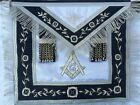 MASONIC HAND EMBROIDED BLUE  LODGE TOP QUALITY PAST MASTER  APRON .PMA.
