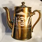 Vintage Gold Gibson Staffordshire Coffee Pot circa 1940s/1950s