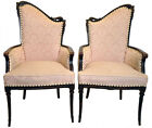Vintage Pair of Hollywood Regency Fireside Chairs, Great Original Condition