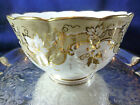 ANTIQUE  RIDGWAY   SLOP BOWL MOLDED ORNATE TAUPE BAND ADORNED GOLD  c1820+
