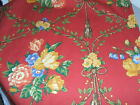 Pierre Deux Gittens Red Yellow French Country Toile Colorful Florl Tassel Fabric
