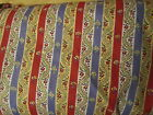 Gorgeous Pierre Deux Colorful French Country Red Yellow Blue Stripe Fleur Fabric
