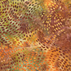 Yellow Orange Green Gold Dots Sun Drenched Batik Fabric - Moda - BTY - 4326 36