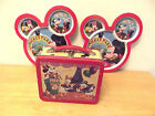 1998 HALLMARK SCHOOL DAYS MICKEY LUNCH BOX with rare plastic plates set of 2