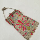 ROARING 1920's  ART DECO WHITING DAVIS MESH EVENING PURSE BAG WITH ENAMEL CLASP