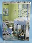 Baby Room Sewing Pattern Butterick Waverly B4947 Crib Sheet Bumpers Shades Uncut