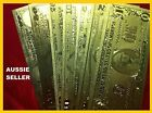 USA AMERICAN 7 GOLD  BANK NOTE SET$1 -$100 + COA PURE 24kt 99.9% GOLD BANKNOTE