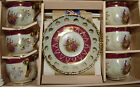 Ojima Japan Cup and Saucer Set of 6 with Hearts
