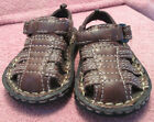 Faded Glory Toddler Boys sz 3 Brown Closed Toe Sandals Grip Sole EUC