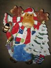 FITZ & FLOYD CHRISTMAS  MERRY JINGLE MOOSE CANDY CANAPE DECORATIVE DISH