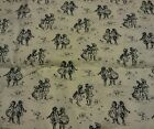 2 YDS. CIVIL WAR REPRODUCTION FABRIC BY CHANTECLAIRE BEIGE W/BLACK PRINT