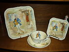 Old c.1930's Mr Micawber Charles Dickens Meakin Ceramic Plate Cup Saucer England