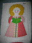 Vintage Cranston V.I.P. Cut & Sew Fabric Panel CHRISTMAS ANGEL Pillow Doll