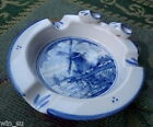 WINDMILL River~HOLLAND Dutch DELFT~Zenith~3D Clogs ASHTRAY Ash Tray~H/P Numbered